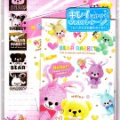 Kamio Japan Bear Rabbit Letter Set with Stickers Kawaii