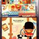 Kamio Japan Bear's World Trip Letter Set with Stickers Kawaii