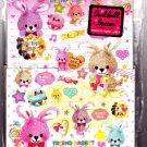 Kamio Japan Friend Rabbit Letter Set with Stickers Kawaii