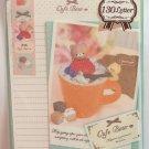 Crux Japan Cafe Bear Letter Set with Stickers Kawaii
