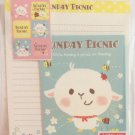 Daiso Japan Sunday Picnic Letter Set with Stickers Kawaii