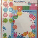 Crinos Japan Fluffy Sweets Letter Set with Stickers Kawaii