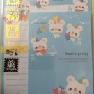 Pool Cool Japan Bear's Party Letter Set with Stickers Kawaii