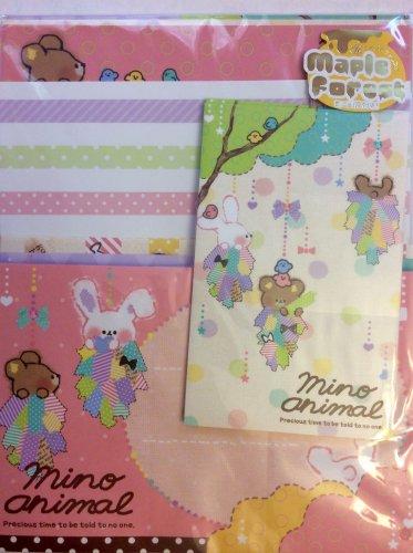 Q-Lia Japan Mino Animal Letter Set Kawaii