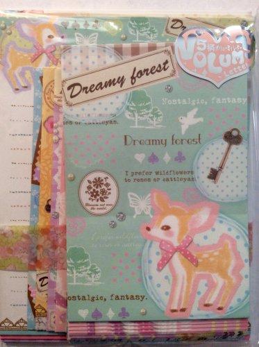 Q-Lia Japan Dreamy Forest Letter Set Kawaii