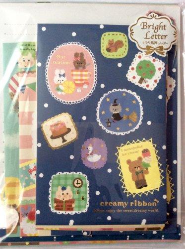 Mind Wave Japan Creamy Ribbon Letter Set Kawaii