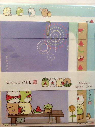 San-X Japan Sumikkogurashi Letter Set 2014 Kawaii