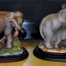 Homco Masterpiece Elephants - Asian & African