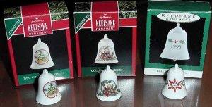 Hallmark Lot Miniature THIMBLE BELLS Series - MIB