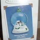 Hallmark Keepsake 2004 Bringing Home the Tree Snow Globe