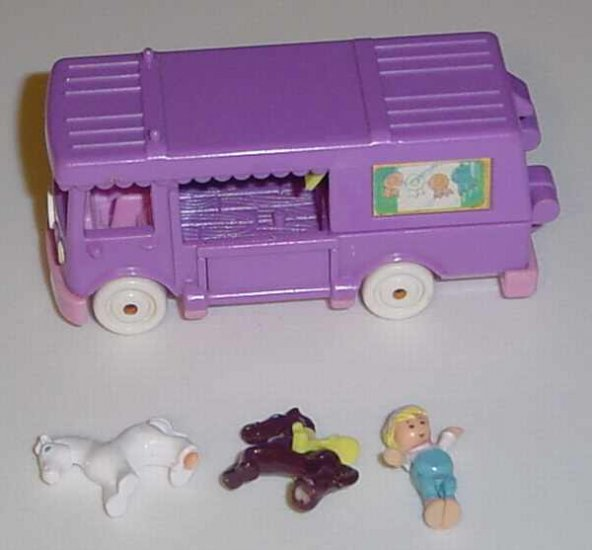 Bluebird 1994 Polly Pocket Stable On The Go COMPLETE!