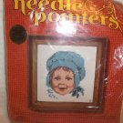 "Vintage SUNSET Needle Pointers Kit LITTLE MISS 5""x 5"" BETH REINSTRA DESIGN"