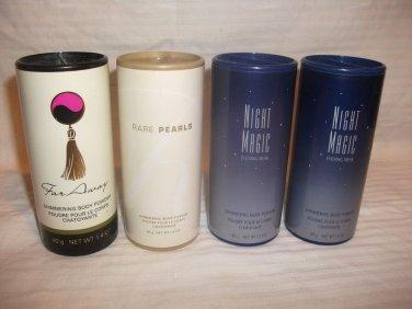 Lot 2 AVON Night Magic Shimmering Body Powder NEW