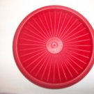 "VINTAGE 5"" Tupperware Servalier Replacement Lid Seal RED 812 Starburst EUC"