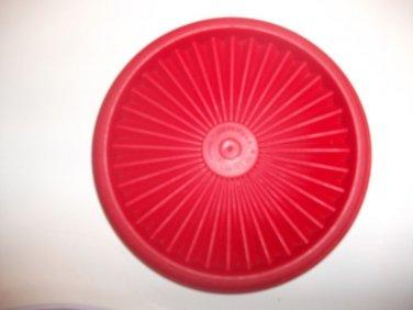 "VINTAGE 5"" Tupperware Servalier Replacement Lid Seal RED 812 Starburst EUC"