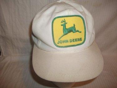 Vintage John Deere Farmer Trucker Hat Cap Snapback Rare Yellow Patch