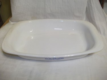 "Vintage Corning Ware Cornflower Blue P-21 Roaster 9""x13"", Very Nice"