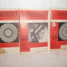 WORKBASKET MAGAZINE LOT OF THREE (3) Dec 1952 Nov 1953 April 1954