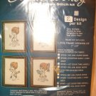 "Edna Looney 7"" x 9"" COUNTED CROSS STITCH KIT NIP 2 Designs in Package"