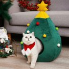 Pet House Cat Christmas Tree Shape Bed  Nest Puppy Cave Washable Cat Mat Warm Soft Winter Cat House