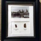 USS Wisconsin and USS Iowa Teak Display