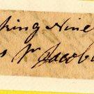 American Revolution General Jacob Morris Signature