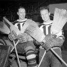 Boston Bruins Mel Hill and Bill Cowley After Sweep of Toronto 1939 Photo
