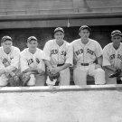 Boston Red Sox Spike Merena, Skinny Graham, Mel Almada, George Hockette, and Al Niemiec 1934 Photo