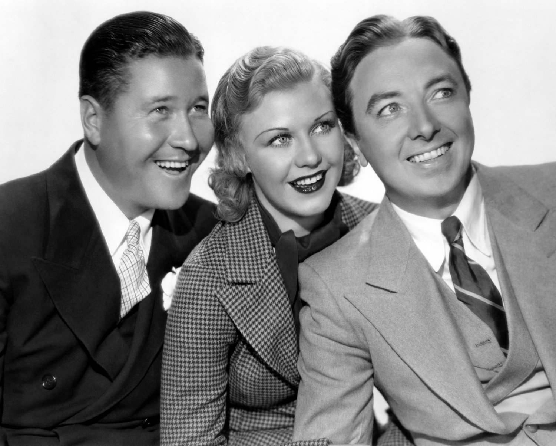 Jack Oakie, Ginger Rogers, and Jack Haley Photo