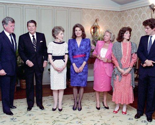 President Ronald Reagan and Nancy Reagan at John F. Kennedy Library Foundation Fundraiser Photo