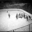 Boston Bruins Tiny Thompson Stops Shot 1938 Photo