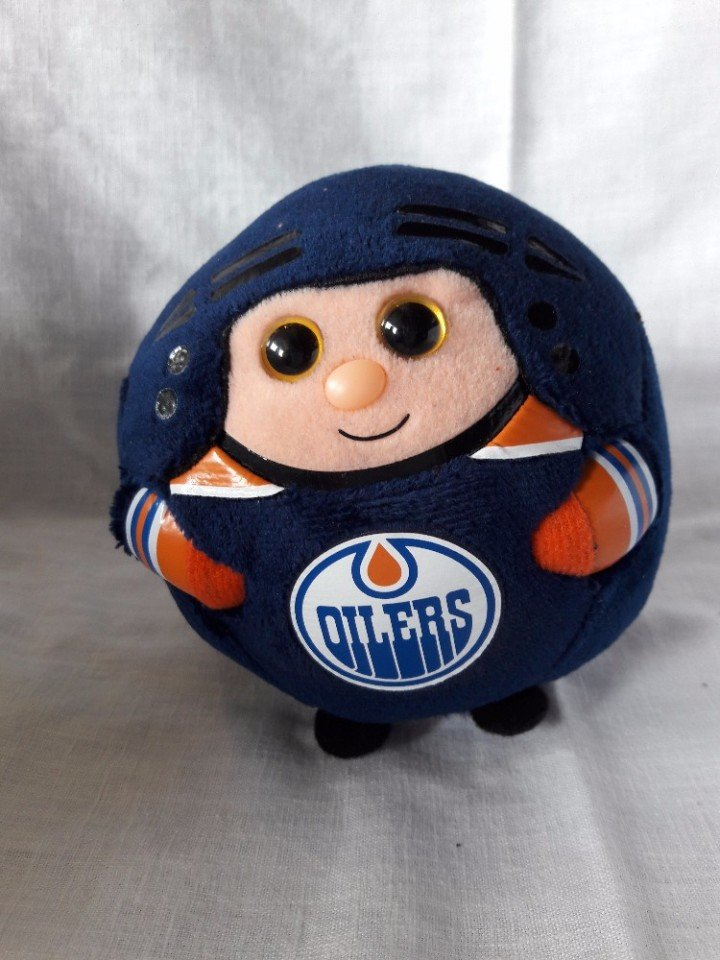 Edmonton Oilers, Ty 4 inches wide Bouncing Ball, NHL Product