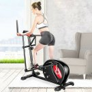 2 in 1 Magnetic Elliptical Machine Trainer Bike Quiet Driven Home Gym Exercise