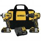 DEWALT DCK278C2R ATOMIC 20V MAX 2-Tool Brushless Combo Kit Certified Refurbished