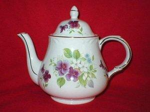 Arthur Wood & Son Floral English Porcelain Teapot