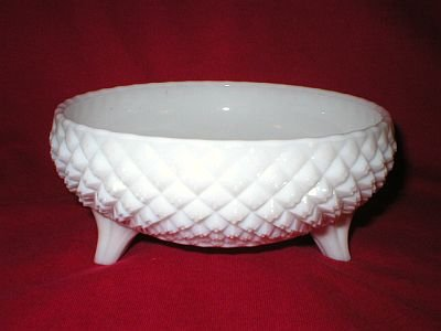 Westmoreland White Milk Glass Footed Bowl or Dish