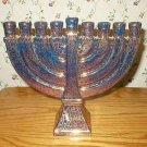 Art Pottery Metallic Copper 9-Light Hanukkah Menorah