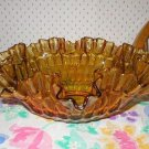 Fenton Large Amber Gold Art Glass Bowl.