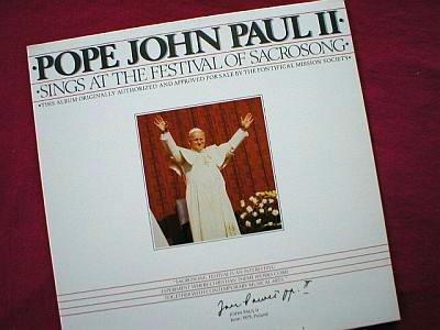 Pope John Paul II Sings At Sacrosong LP Record