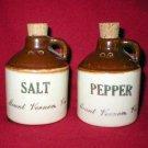 Mount Vernon Art Pottery Salt & Pepper Shaker Jugs