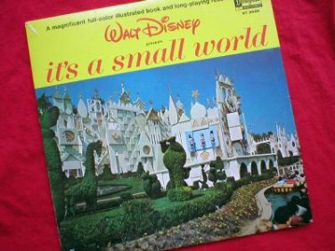 Disney's It's A Small World Vinyl LP Record & Book