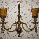 Vintage Solid Brass 2-Light Wall Sconce Candle Holder
