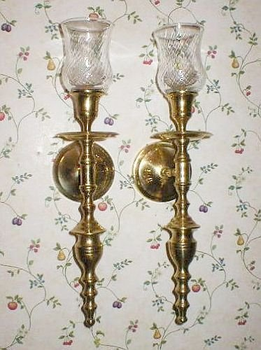 Classic Solid Brass India Wall Sconce Candle Holders