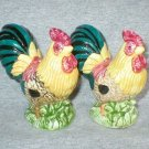 Country Chicken Rooster Salt & Pepper Shakers