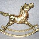 "Big 11"" Solid Brass Rocking Horse Circus Figurine"