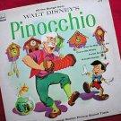 Disney's Pinocchio Vintage 1959 Vinyl LP Record