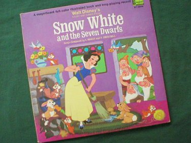Disney's Snow White and the Seven Dwarfs LP Record