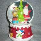 Santa, Dog & Christmas Tree Holiday Snow Globe