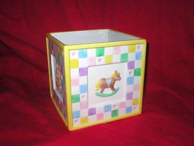 Napco Vintage Easter Bunny Pot Planter Vase