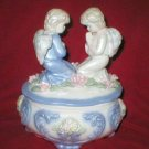 Angel Porcelain Keepsake Music Box - Amazing Grace